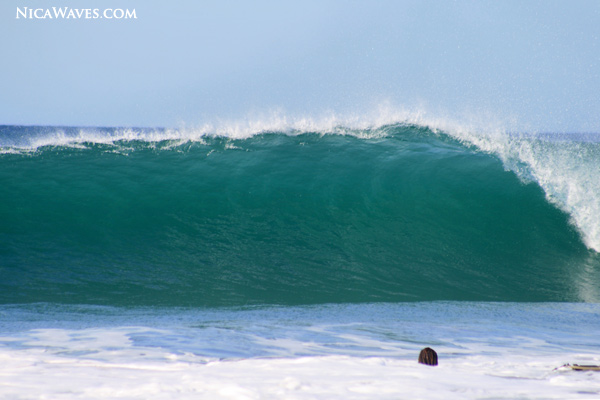 uncrowded surf in Nicaragua