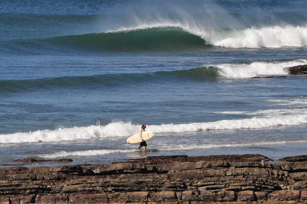 """David """"Boogie"""" Ward coming in for a break between sessions"""